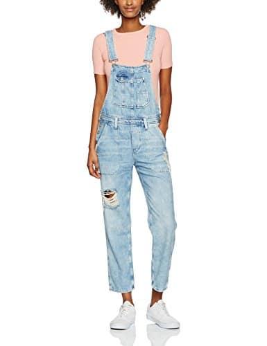 Pepe Jeans Jodie, Salopette Femme, Bleu (Denim), FR: 36 (Taille Fabricant: XS)