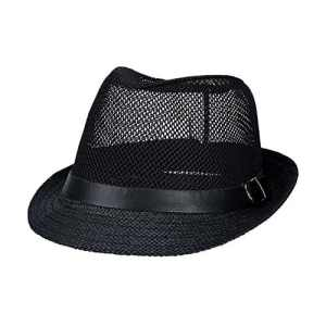 Wingbind Paille Hommes Femmes Fedora Lin Trilby Casquette Panama Beach Sun Hat Large Bord