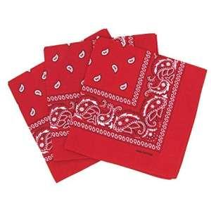 Lot de 3 bandanas paisley – Rouge – taille unique