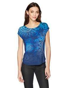 Desigual TS_Grace, T-Shirt Femme, Bleu (Navy 5000), X-Large