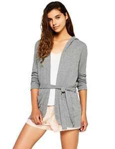 Iris & Lilly Comfy Lounge Jersey-17AY59A Haut De Pyjama Femme – Gris (Grey) – Medium