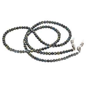 Rainbow Chaîne Cordon Collier Style Bohême pour Lunettes Porte-Lunette pour Femme/Pierres Naturelles/RC (Mother Pearl Dark)