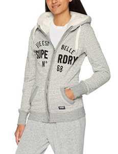 Superdry G20018PP, Sweatshit à Capuche Sportswear Femme, Grigio (Grey Marl Nep), X-Large