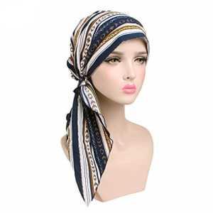 MoreChioce Turban Vintage Femme, Mode Coiffe Bohême Bandeau Cheveux, Chapeau Lady Headwear Bandeau Cancer Bandeaux Accessoires pour Chimio Perte de Cheveux, Style Ethnique