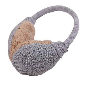 Surgood nouveau épaississement polaire unisexe hiver chauffe chaud oreilles en fausse fourrure en tricot cache-oreilles réglable lavable
