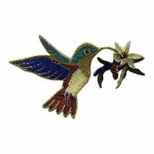 Hosaire 1pc Patch De Série Worm Bird Flower Brodée Étiquette Autocollant Vêtements De Mode Broderie Délicate Applique Patchs Coudre(Colibri)