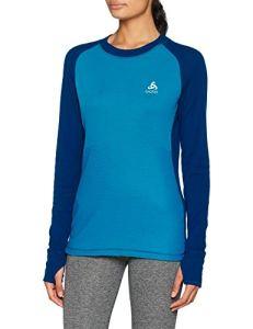 Odlo T- Shirt ML Active Revelstoke Manches Longues Femme, Poseidon/Turkish Tile, FR : L (Taille Fabricant : L)