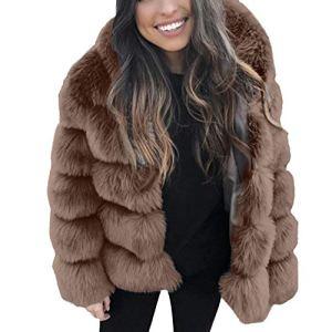 UFACE Nouveau Manteau en Fausse Fourrure Agneau Persan pour Femmes Multi-Styles