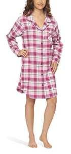 Chemise de nuit en flanelle robe de nuit tenue de nuit sleepshirt pour femme – Moonline, Color:pink, Größe:40/42