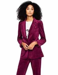 find. Velvet Blazer Veste De Costume, Rose (Magenta), 46 (Taille Fabricant: XX-Large)