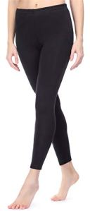 Ladeheid Leggings Interieur en Polaire Vêtement Hiver Femme LAMA06 (Noir, 2XL/3XL (Taille du Fabricant: 46/48))