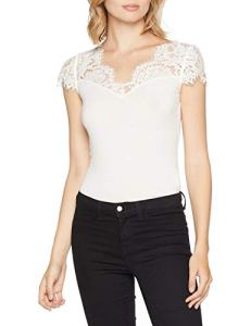 Morgan 182-DOVE.N, T-Shirt Femme, Blanc (Off White 201), X-Large (Taille Fabricant: TXL)