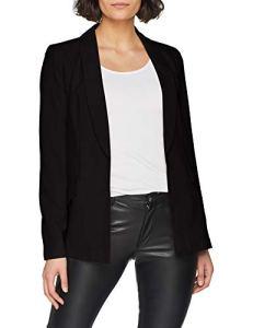 Only Onlruna L/s Blazer CC TLR, Veste De Costume Femme, Noir (Black), 38 (Taille Fabricant: 36)