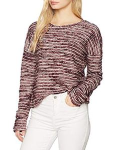 New Look Boucle and Metallic, Pull Femme, Rouge (Red Pattern 69), 36 (Taille Fabricant: 51)