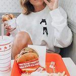 Sweat-Shirt 2018 EUZeo Automne Hiver Femmes Décontractée Mode O-Neck Couleur Unie Manche Longue Chat imprimé Haut en Blouse