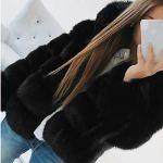 Femmes Manteaux De Vison d'hiver À Capuche Nouveau Veste en Fausse Fourrure Chaud Épais Survêtement Veste Femmes À Manches Longues lâche Blanc Tops Blouse Manteau Manteau Outwear
