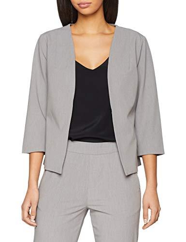 Object Objcecilie Blazer Noos, Veste De Costume Femme, Gris (Medium Grey Melange), 44 (Taille Fabricant: 42)