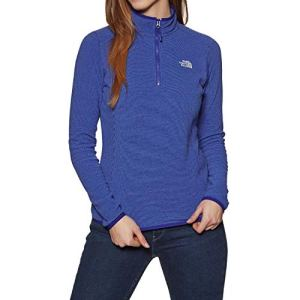 The North Face Women's 100 Glacier Sweat-Shirt Femme, Lapis Blue Stripe, FR (Taille Fabricant : XL)