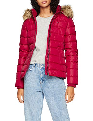 Tommy Jeans Femme Essential Hooded Down Blouson Manches Longues Rouge (Rumba Red 610) X-Large