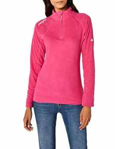 Geographical Norway Talmud Lady Half Zip, Pull sans Manche Femme, Rose Fluo Pink, Medium