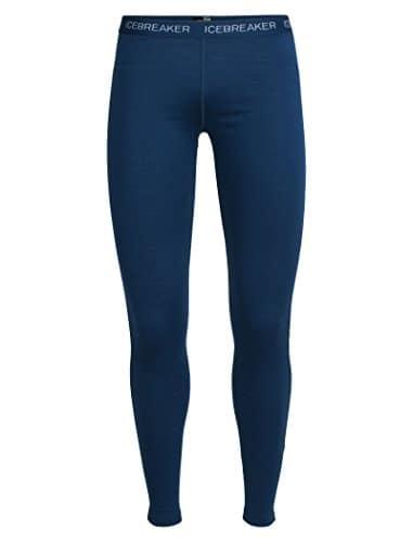 Icebreaker Legging Oasis pour Femme L Bleu foncé/Blanc TNF