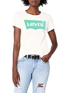 Levi's The Perfect Tee, T-Shirt Femme, Blanc (Better Batwing Cloud Dancer 0305), Medium