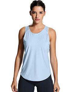 CRZ YOGA Femme Débardeur Fitness Running T-Shirt Dos Nageur avec Maille Frais – R751 42 (M)