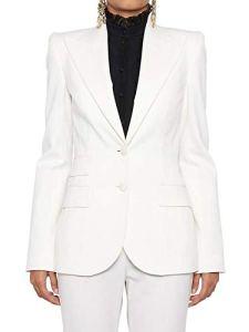 Dolce E Gabbana Femme F296ttfuccsw0001 Blanc Laine Blazer