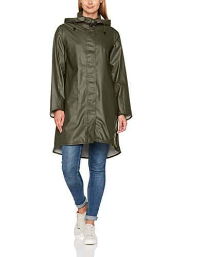 Ilse Jacobsen RAIN71, Veste Imperméable Parka À Capuche Manches Longues Femme, Vert (Army 41), 34 (Taille fabricant: 34)