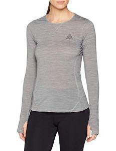 Odlo T- ML Revolution TW Warm T-Shirt Manches Longues Femme, Grey Melange, FR : M (Taille Fabricant : M)