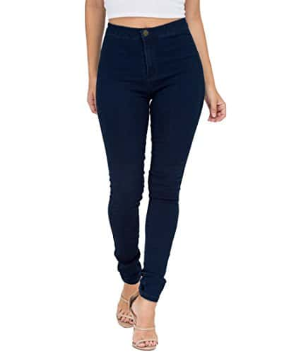 Pantalon Femme Slim Jeans Taille Haute Stretch Jeggings Skinny Denim Pantalons
