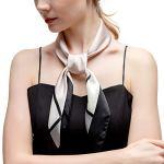 RIIQIICHY Petit Foulard Carré de Soie Multi-motifs pour Femmes Accessoires Élégants 70 * 70cm