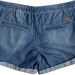Roxy Arecibo Denim Shorts Femme, Medium Blue, FR : L (Taille Fabricant : Large)