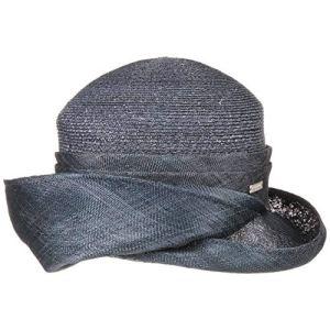 Seeberger Chapeau en Paille Malita Chapeau de Fete Chapeau a Bordure (Taille Unique – Bleu Fonce)