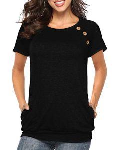 Tee-shirt femme tunique à col rond et à manches longues