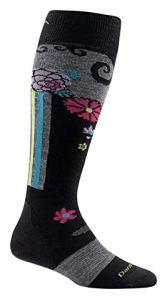 Darn Tough Chaussettes de coussin de fleurs–Femme, femme, noir