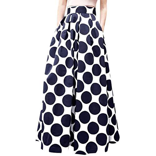 Kaister Jupe Longue Cocktail Party Summer Women Summer Dot Jupe Taille Haute imprimée