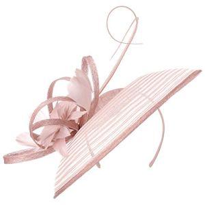 McBURN Serre-Tete Sinamay Flower Femme   Chapeau pour de Mariage Printemps-ete   Taille Unique vieuxrose