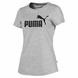 Puma ESS Logo Tee T-Shirt Femme, Gris (Light Gray Heather), M