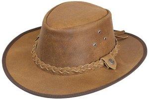 Scippis – Lederen hoed Hooley – Café, XL/61-62cm