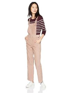 AG Adriano Goldschmied Women's Gwendolyn Straight Leg Overall, Sulfur Pale Wisteria, Large