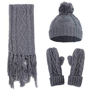 Belsen – Bonnet – Femme Gris Gris foncé Taille Unique – Gris – Taille Unique