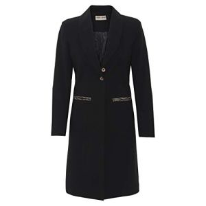 BLACK FORM FITTED COAT AND DRESS WITH COBRA TAPE HOF/set2/2230 – suiter 15 – stuck no. 875 / 06-2