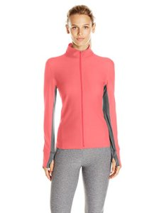 Calvin Klein Performance Women's Honeycomb Mesh Jacket, Coral ice, L