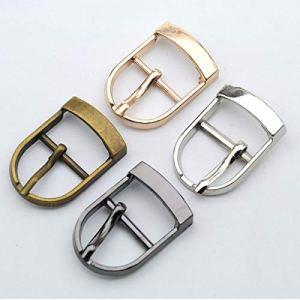 CUSHY 30pcs bricolage/lots ceinture boucle ardillon chaussure alliage métallique 19mm de mode boucles haute Nickle poli/noir/bronze/or BK-008: Shinny noir