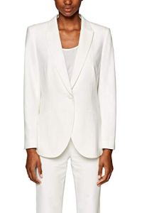 ESPRIT Collection 039EO1G001 Veste de Costume, Weiß (Off White 110), 42 Femme