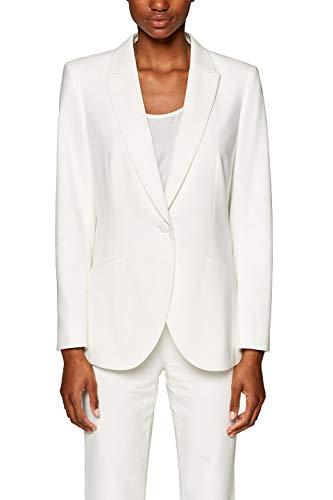 ESPRIT Collection 039EO1G001 Veste de Costume, Weiß (Off White 110), 42 Femme