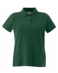 Fruit of the Loom Polo à manches courtes, Femme – Vert – M