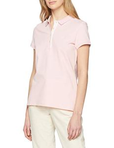 Gant Contrast Collar SS Pique, Polo Femme, Rouge (California Pink 637), Small