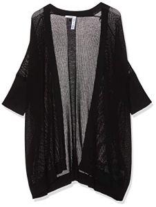 Guess Cecile Maxi Sweater Gilet, Noir (Jet Black A996 Jblk), Small Femme